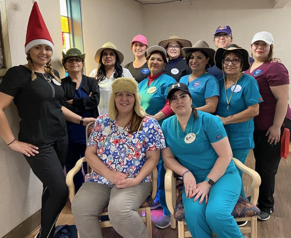 Staff on National Hat Day!